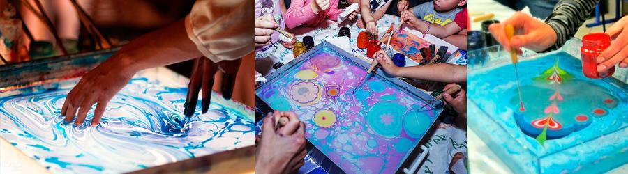 Рисование на воде для детей